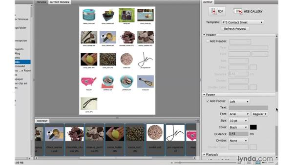 7. Creating contact sheets: Bridge: 10 Things Designers Need to Know