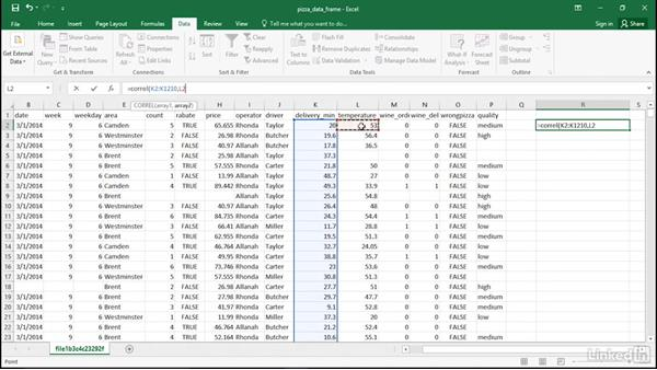Analyze one numeric variable by another in Excel: R for Excel Users