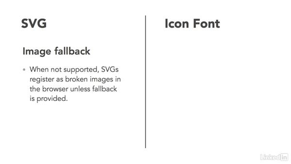 Difference between SVG and icon fonts