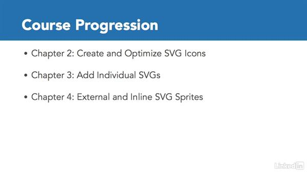 What we'll cover in this course: Web Icons with SVG