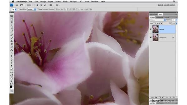Roughening or pointilizing edges with Dissolve: Photoshop Blend Mode Magic