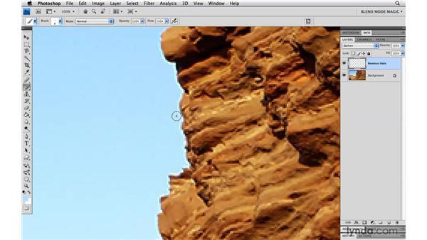 Removing halos with Darken: Photoshop Blend Mode Magic