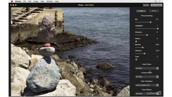 Apply local edits with Color Filters: Photos for OS X: Extensions for Local Adjustments