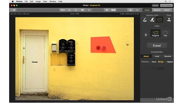 Use the erase tools: Photos for OS X: Extensions for Local Adjustments