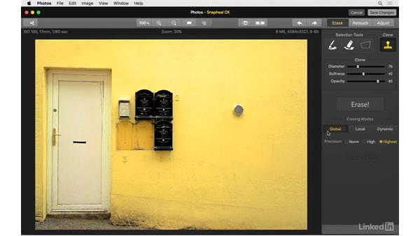 Work with the clone tools: Photos for OS X: Extensions for Local Adjustments