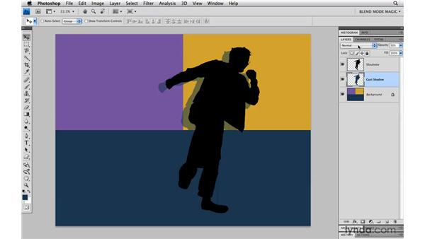 Creating a cast shadow with Multiply: Photoshop Blend Mode Magic