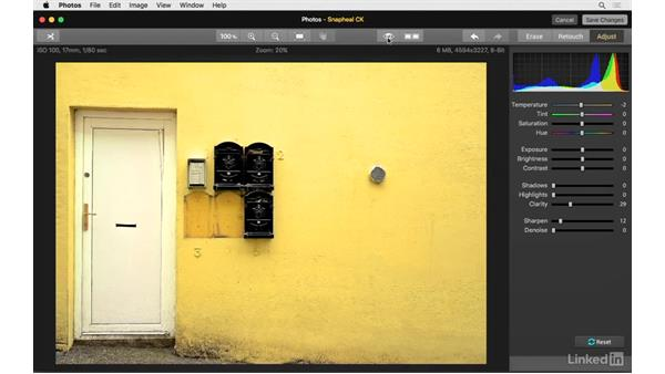 Global modifications with the adjust tools: Photos for OS X: Extensions for Local Adjustments