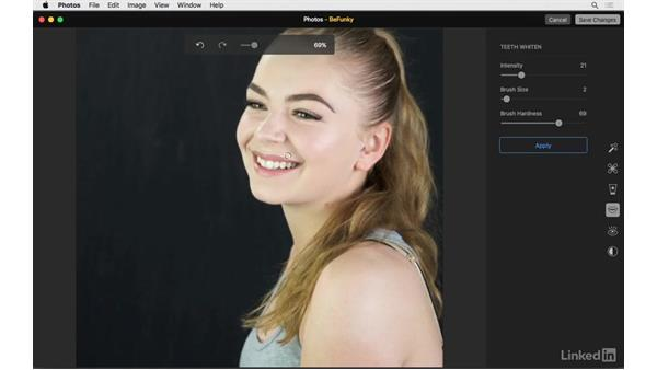 Teeth whitening: Photos for OS X: Extensions for Local Adjustments