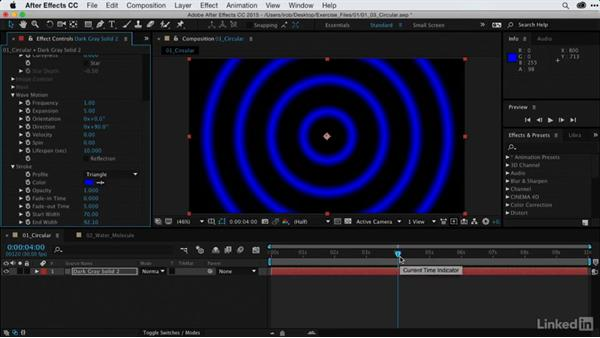 Creating animated circular graphics: After Effects Guru: Using Generator Effects