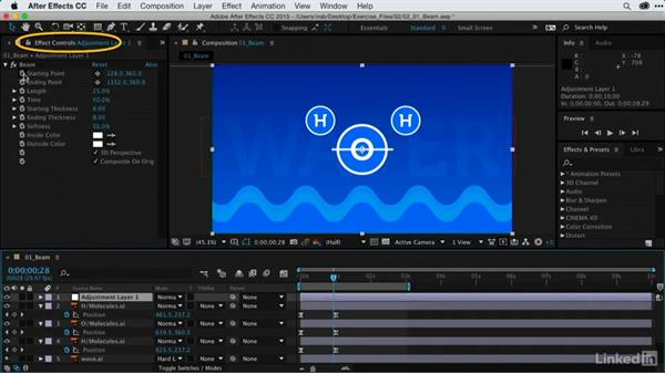 Tying elements together with the Beam effect: After Effects Guru: Using Generator Effects