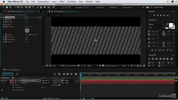 Animating repeating shapes with CC Threads: After Effects Guru: Using Generator Effects