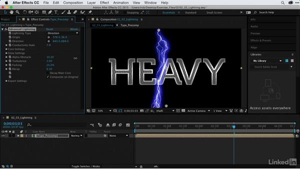 Electrifying graphics with Advanced Lightning: After Effects Guru: Using Generator Effects