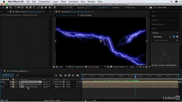 Refining Advanced Lightning animations: After Effects Guru: Using Generator Effects