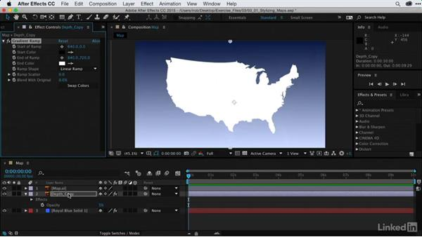 Stylizing maps with gradients: After Effects Guru: Using Generator Effects