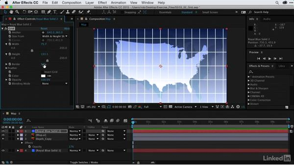 Animating graticules with Grid: After Effects Guru: Using Generator Effects