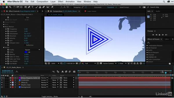 Highlighting areas with Radio Waves: After Effects Guru: Using Generator Effects