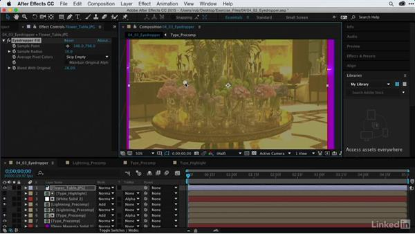 Blending composites with Eyedropper Fill: After Effects Guru: Using Generator Effects