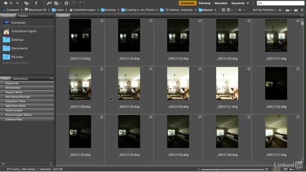Creating stacks with Adobe Bridge: Creating 360-Degree Panoramas and Interactive Tours