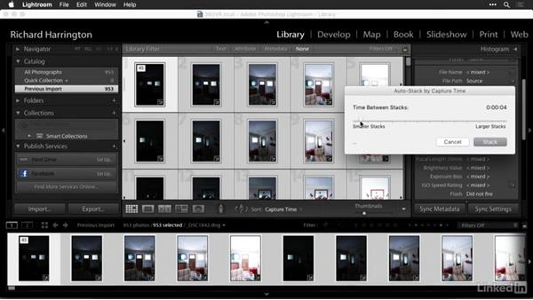 Creating stacks with Adobe Lightroom: Creating 360-Degree Panoramas and Interactive Tours