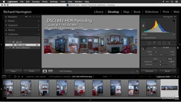 Merging your HDR panoramic images in Lightroom: Creating 360-Degree Panoramas and Interactive Tours