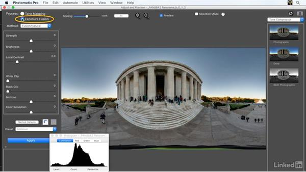 Choosing a processing method in Photomatix: Creating 360-Degree Panoramas and Interactive Tours