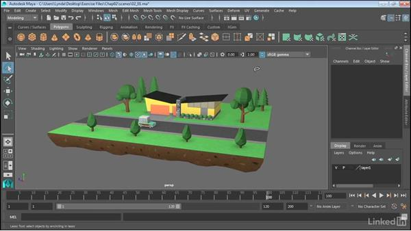 Select objects: Maya 2017 Essential Training