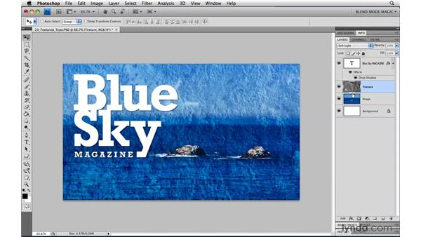 Textured type with Overlay: Photoshop Blend Mode Magic
