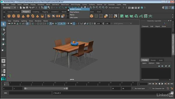 Work with selection masks: Maya 2017 Essential Training