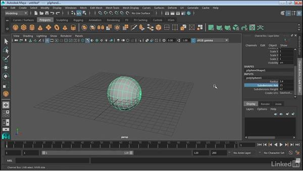 Create polygonal objects: Maya 2017 Essential Training