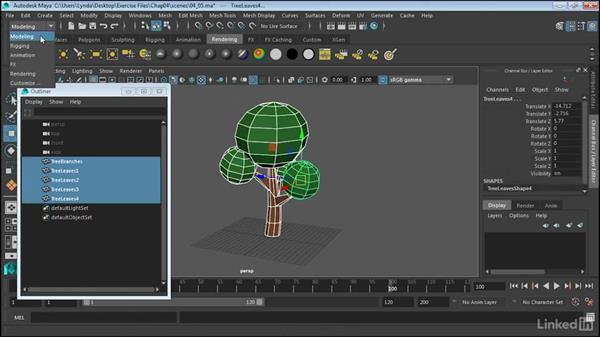 Combine and separate: Maya 2017 Essential Training