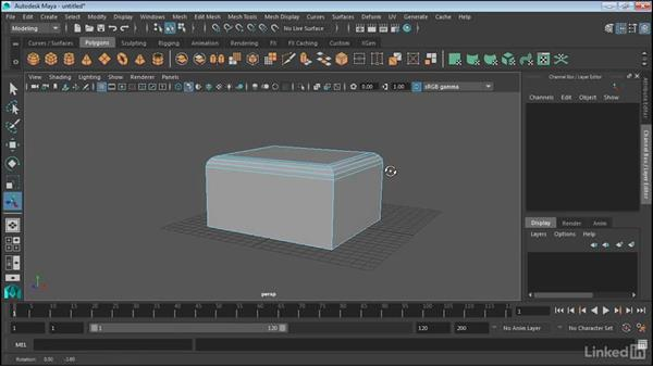 Use the bevel tools: Maya 2017 Essential Training