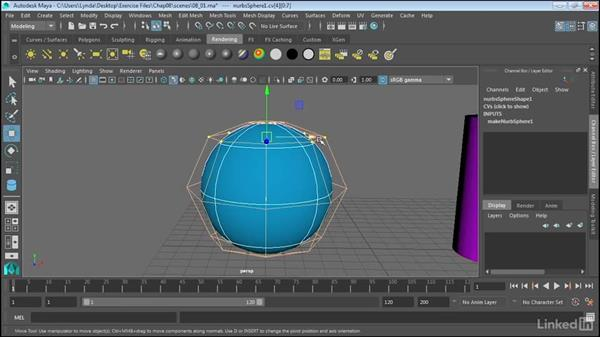 Introducing NURBS modeling and editing: Maya 2017 Essential Training