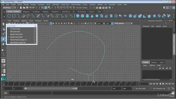 Use the NURBS curve tools: Maya 2017 Essential Training