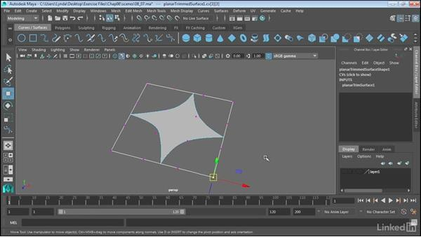 Create shapes with NURBS Planar: Maya 2017 Essential Training