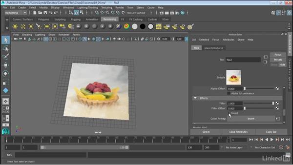 Use bitmaps as texture: Maya 2017 Essential Training