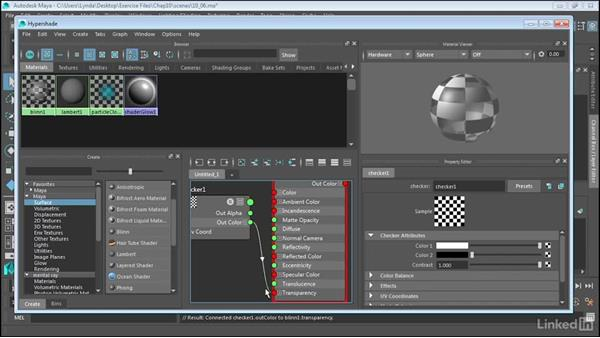 Create materials in the Hypershade window: Maya 2017 Essential Training