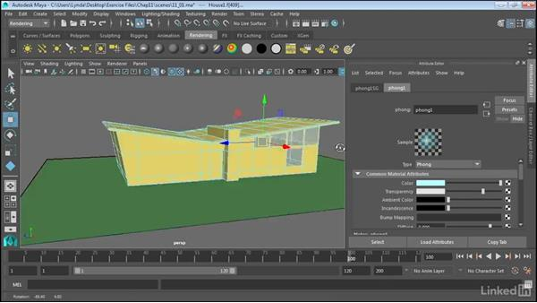 Apply multiple materials to polygonal objects: Maya 2017 Essential Training