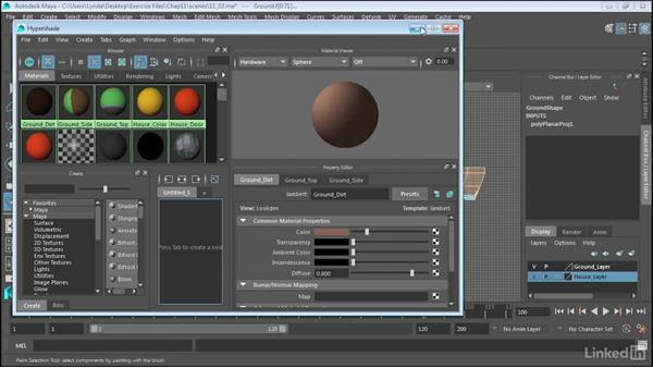 Use cylindrical projections on polygons: Maya 2017 Essential Training