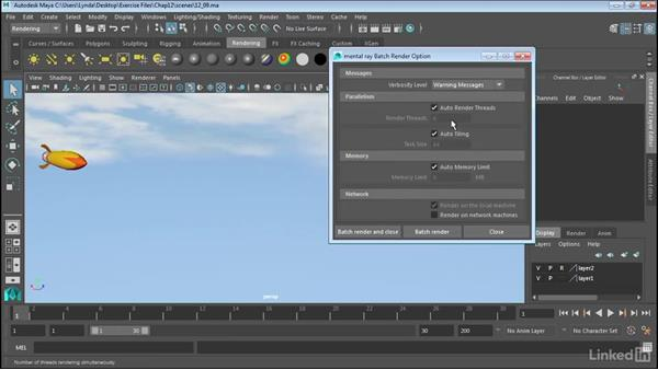 Batch rendering: Maya 2017 Essential Training
