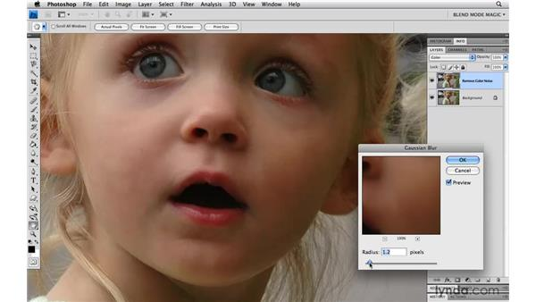 Reducing color noise with Color: Photoshop Blend Mode Magic
