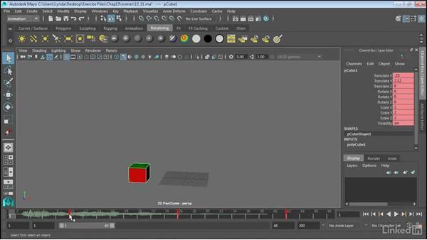 Add sound to animations: Maya 2017 Essential Training