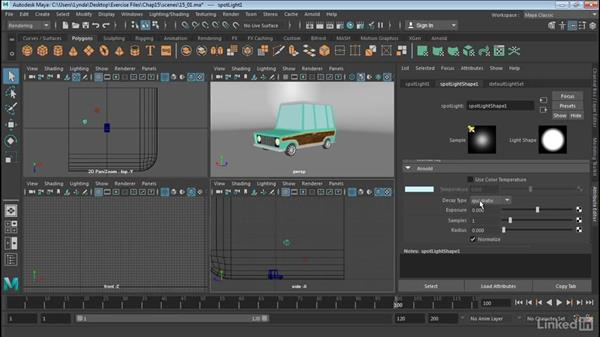 Use Maya lights in Arnold: Maya 2017 Essential Training