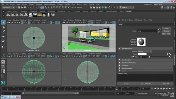 Create image-based lighting in Arnold: Maya 2017 Essential Training
