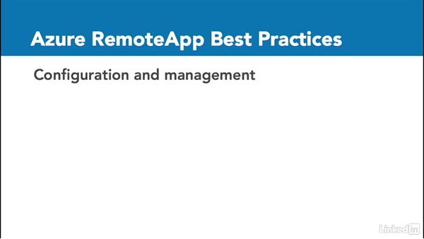 Best practices for using Azure RemoteApp: Windows 10: Manage Apps