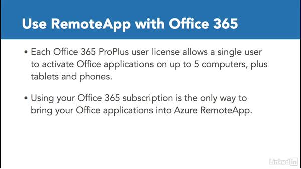 Azure RemoteApp and Office 365: Windows 10: Manage Apps