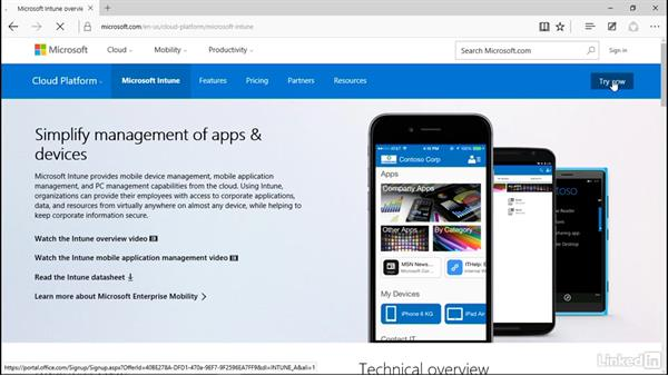 Set up Intune account: Windows 10: Manage Apps