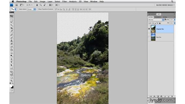 Replacing the sky in an image: Photoshop Blend Mode Magic