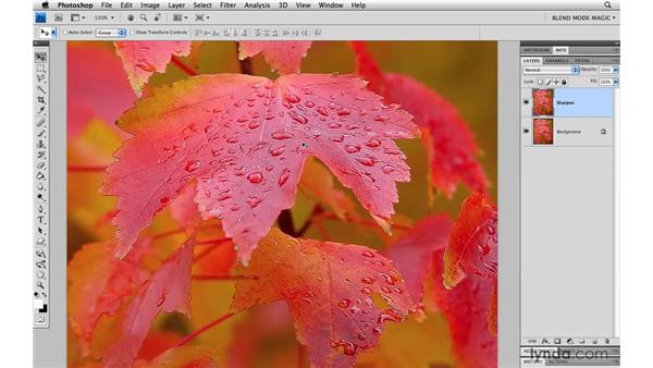 Splitting edges when sharpening: Photoshop Blend Mode Magic