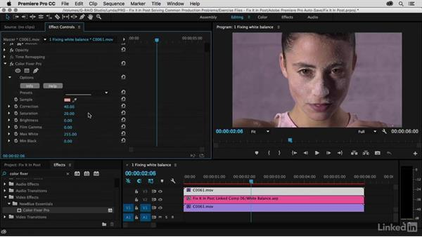 Remove color cast with Color Fixer Pro: Premiere Pro Guru: Fix It in Post