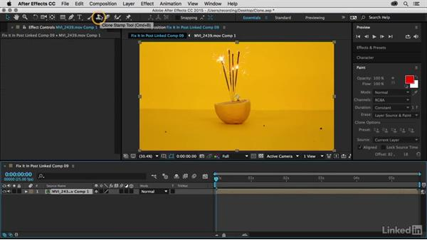 Use the clone brush in After Effects: Premiere Pro Guru: Fix It in Post
